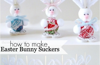 Easy Easter Craft – Easter Bunny Suckers
